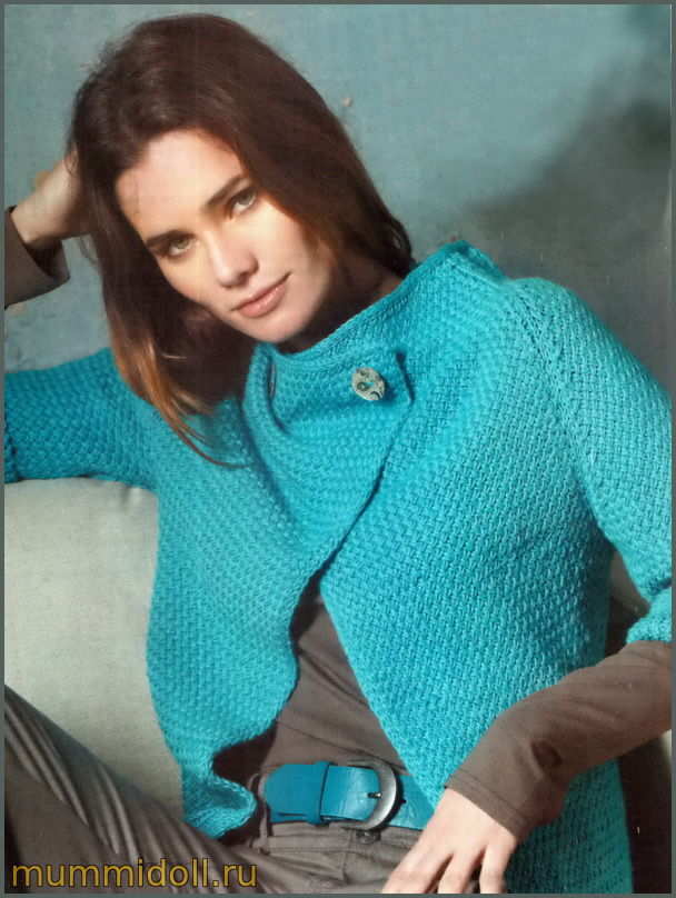 Жакет с узором плетенка