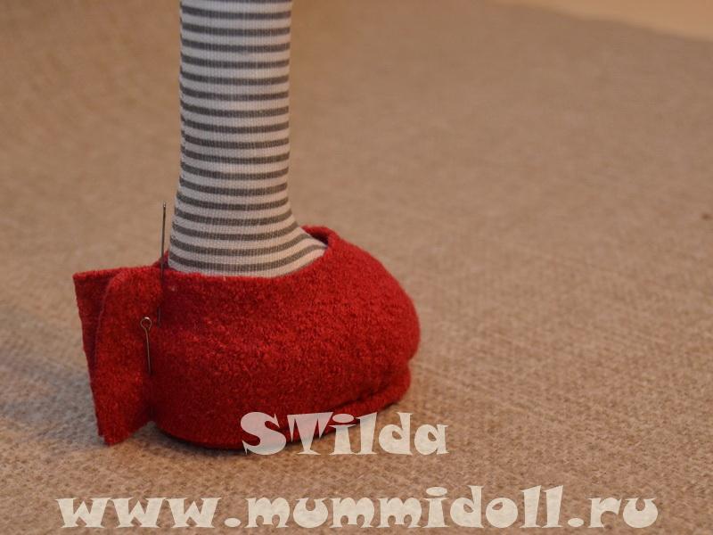 Обувь на плоской подошве для куклы