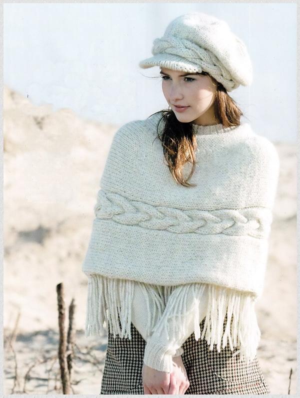 Белое кепи и пончо