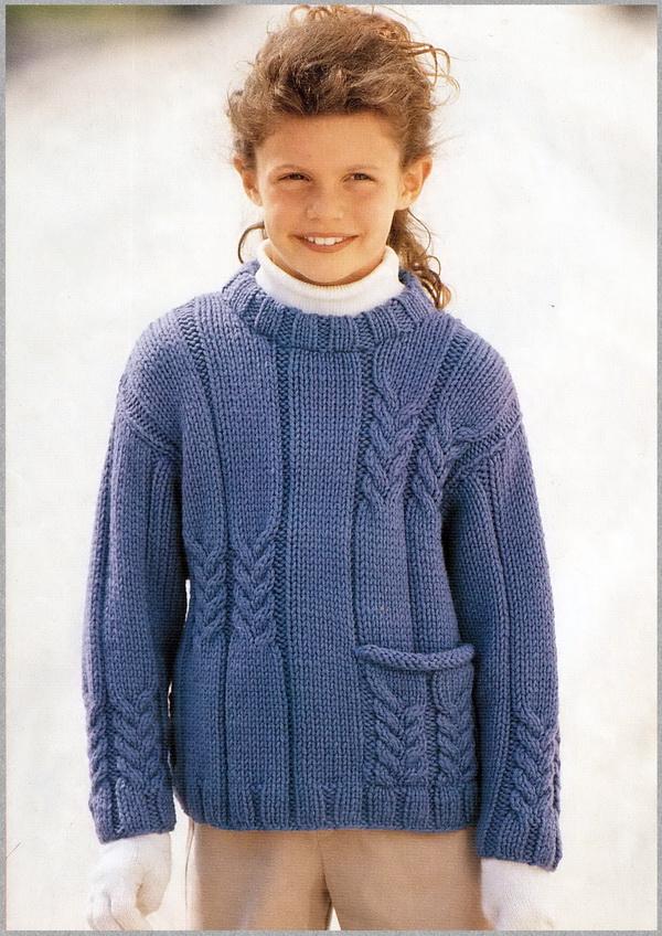 Вязание полувера для ребенка 608