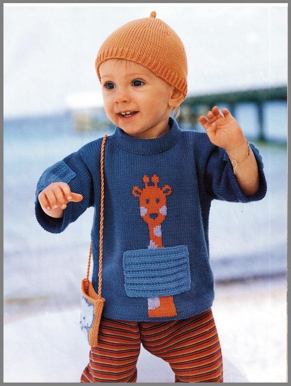 Вязание полувера для ребенка 889