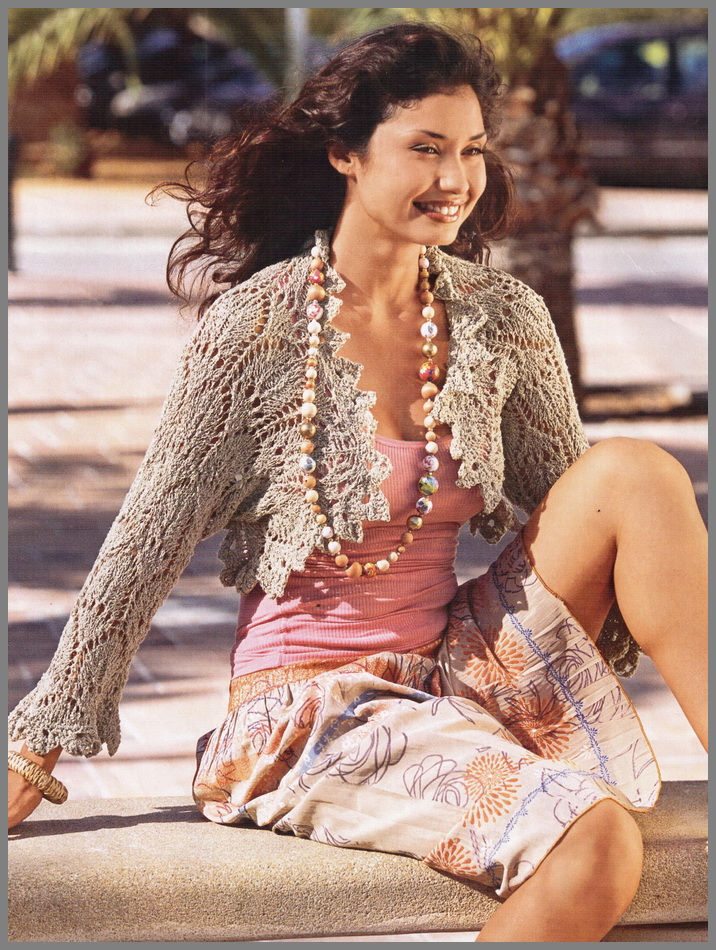 Вязание спицами болеро для женщин